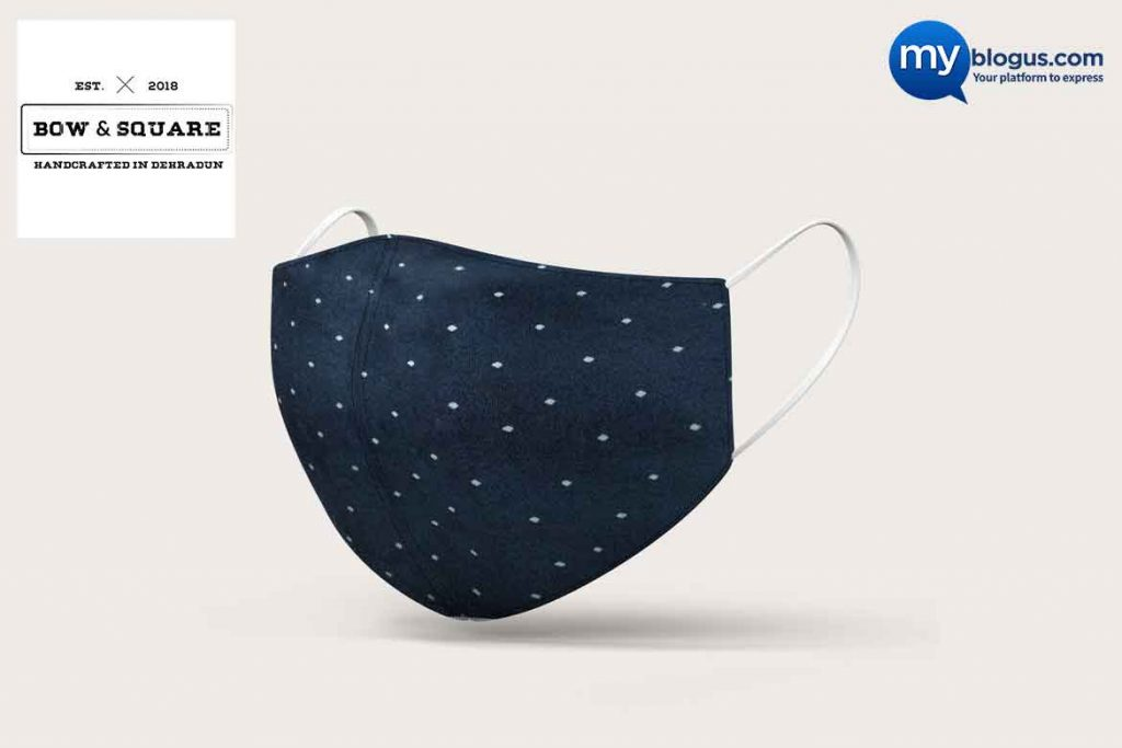 Made in India Mask - Bow & Square