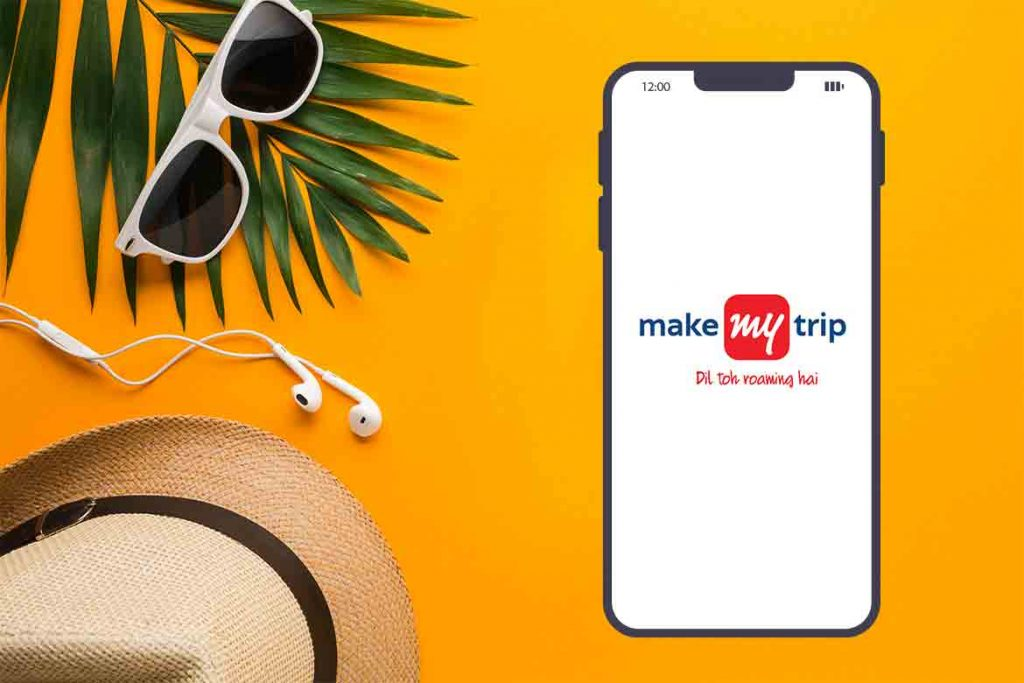 Made In India Travel app - MakeMyTrip -