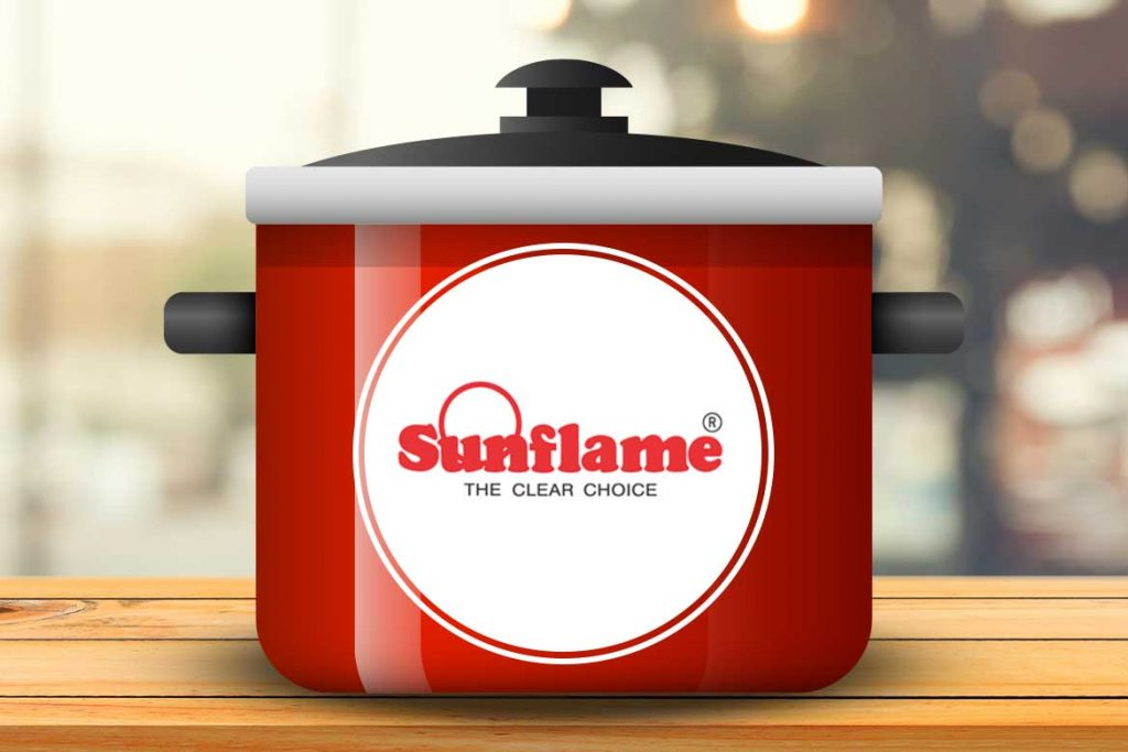 Sunflame Induction Base Inner Lid Aluminium Pressure Cooke