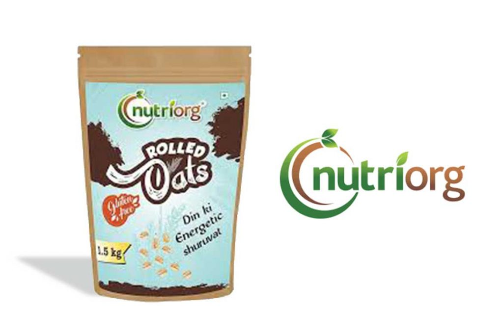 Made In India Oats Brands - Nutriorg Rolled Oats