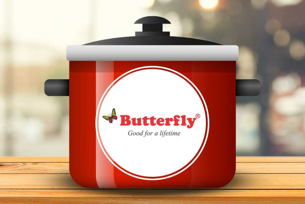 Amazon.in Butterfly Standard Aluminium Pressure Cooker, 5 Litre