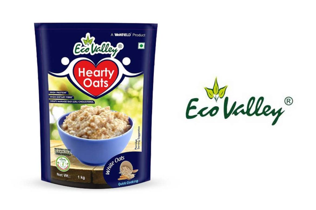 Made In India Oats Brands - Eco Valley Hearty White Oats