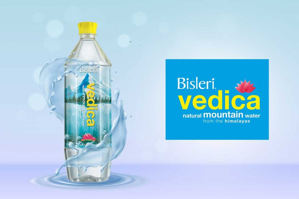 Indian Bottled Water Brands - Vedica natural mountain water